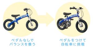 バランスバイクからへんしんバイク