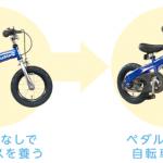 すぐ自転車に乗れちゃう「へんしんバイク」がすごいらしい。