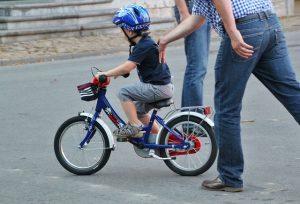 子ども自転車練習