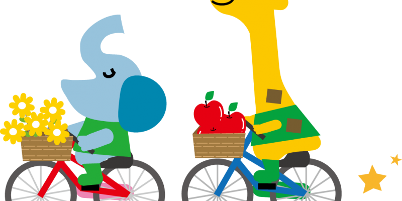 自転車のる動物